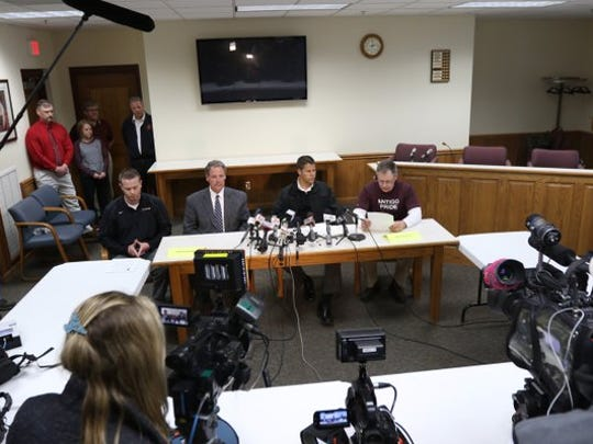 Antigo police and school officials held a press conference Monday at which they declined to release details of the shooting.