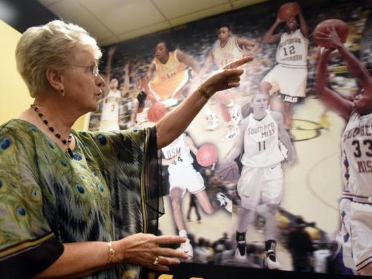 Former Southern Miss women's basketball coach Kay James speaks about players she has coached. She will be inducted into the Mississippi Sports Hall of Fame.