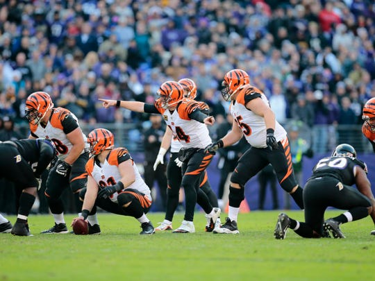 quarter of the NFL Week 12 game between the Baltimore Ravens and the Cincinnati Bengals at M&T Bank Stadium in Baltimore on Sunday, Nov. 27, 2016. The Bengals lost to the Ravens 19-14, falling to 3-7-1 on the season.