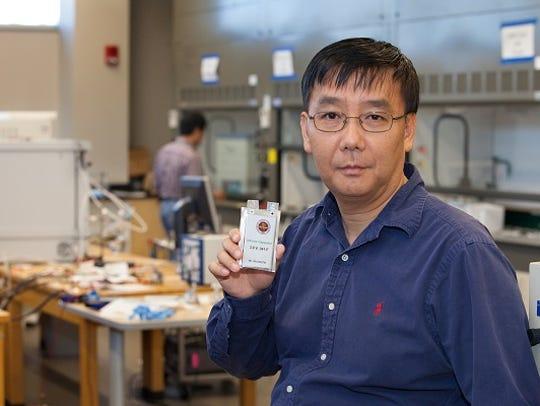 Dr. Jim Zheng is developing a internal hybrid battery/capacitor