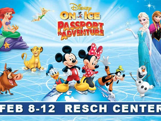 Enter to win a 4-pack of tickets to Disney On Ice at the Resch Center.  Enter 1/11-2/5/17
