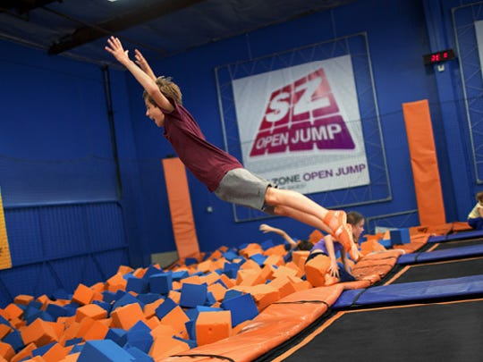Take a leap in the Foamzone at Skyzone Trampoline Park in Maple Shade.