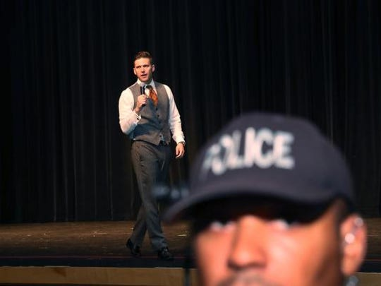 "White nationalist Richard Spencer, who popularized the term ""alt-right"" speaks at the Curtis M. Phillips Center for the Performing Arts on October 19, 2017 in Gainesville, Florida. Spencer delivered a speech on the college campus his first since he and others participated in the ""Unite the Right"" rally which turned violent in Charlottesville, Virginia.  (Photo by Joe Raedle/Getty Images)"