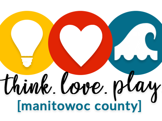 Think.Love.Play. [Manitowoc County] logo