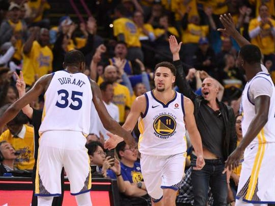 April 24, 2018; Oakland, CA, USA; Golden State Warriors