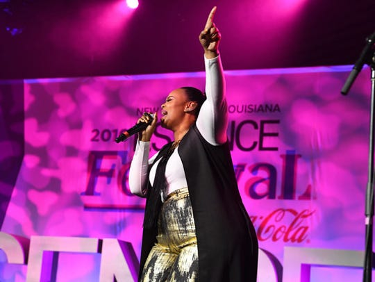 Christina Bell performs at the 2016 Essence Festival.