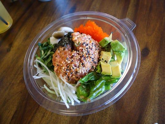 Spicy tuna bowl at Chula Seafood