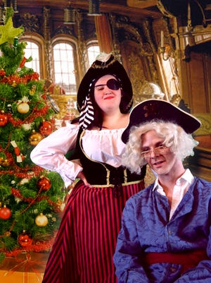 """Actors Molly Feibel and Ryan Bannen  are shown in """"Pirates of the Yuletide."""""""