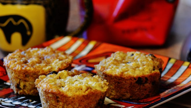 Oatmeal muffins are good hot out of the oven or even later as an afternoon snack.