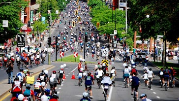 Montreal's bike festival typically brings out 15,000 people for a night ride and 25,000 for the main event a few days later. This year's Tour la Nuit is June 3, and the Tour de l'Ile rolls June 5.
