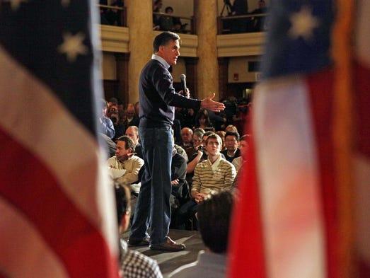 Republican presidential candidate, former Massachusetts