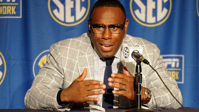 Vanderbilt head coach Derek Mason attends a press conference at SEC Media Days at The Wynfrey Hotel in Hoover, Ala. on Tuesday, July 11, 2017.