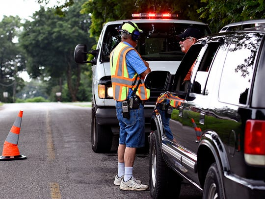 Fire police blocked Stevens Road in Newberry Township