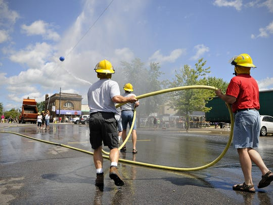 The Albany Fire Department battles the Albany Jaycees