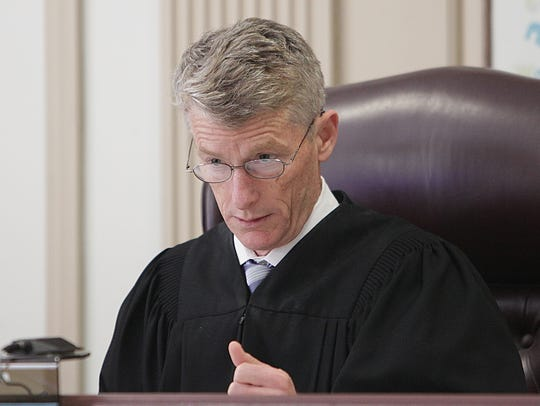 Superior Court Judge Robert Gilson at a hearing for
