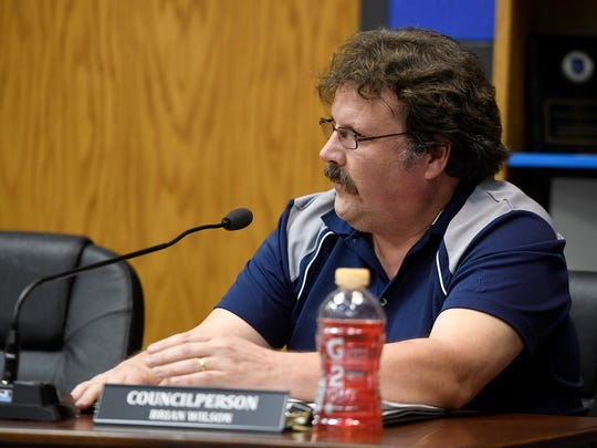 "Brian Wilson tells his fellow West York Borough council members ""we are f-ed"" during a public meeting, Monday, July 2, 2018. John A. Pavoncello photo"