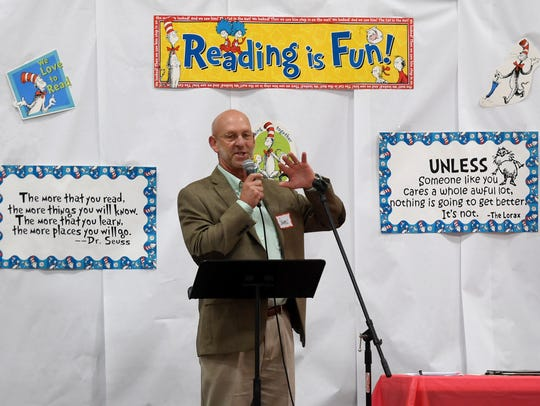 Arise2Read program director James Christoferson welcomes