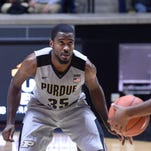 Purdue guard Rapheal Davis (35) defends against the Incarnate Word in the second half of a 96-61 victory at Mackey Arena.