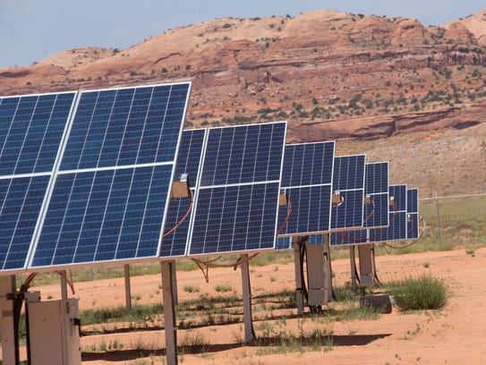 Automated solar panel arrays convert sunlight to electricity