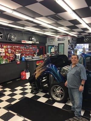 Auto Finishers Supply owner Richard Trovato in his North Clinton Avenue shop.