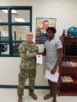 Jensen Beach defensive back Jamien Sherwood received his nomination packet for the U.S. Army All-American Bowl on Wednesday morning.