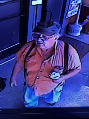 Sheriff detectives want to talk with the man shown in a photo taken from surveillance video.