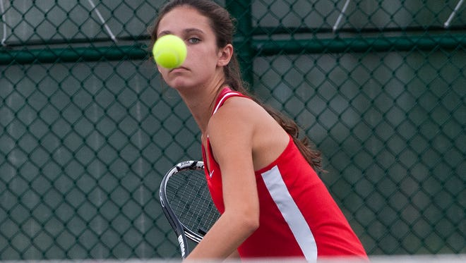 Lenape No. 2 singles player Shannon McCarthy won her match 4-6, 6-3, 6-4 to clinch the South Jersey Group 4 title.