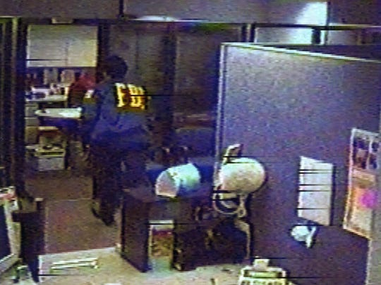 A security camera photo of the perpetrator in the 2003 credit union robbery on the Xerox campus in Webster.