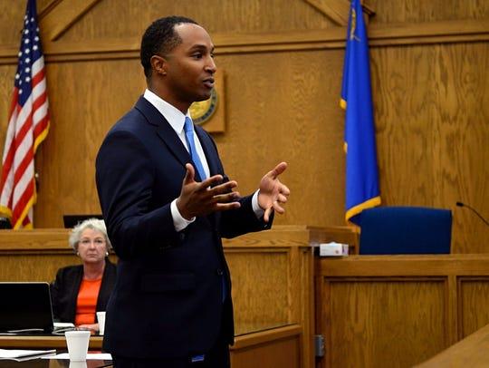 Deputy District Attorney Zelalem Bogale makes opening