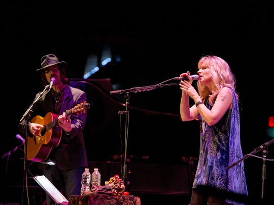 Over The Rhine, led by Linford Detweiler (left) and Karin Bergquist, will hold its annual Christmas concert at Memorial Hall this weekend.