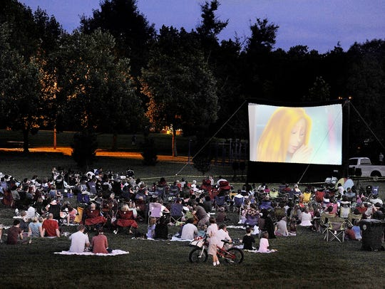Free outdoor movies are family crowd pleasers.