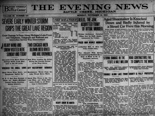 The Evening News, Nov. 16, 1913