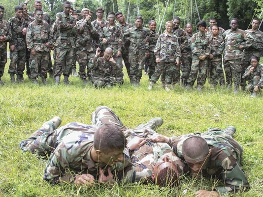 Virginia Air Force cadets cross-train with Marines during leadership course