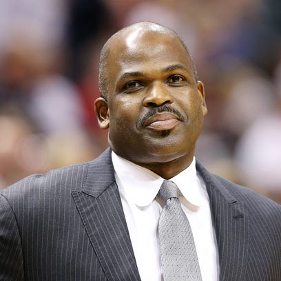 Indiana Pacers head coach Nate McMillan before taking