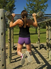To prep yourself for a full pullup, incorporate partial-range-of-motion