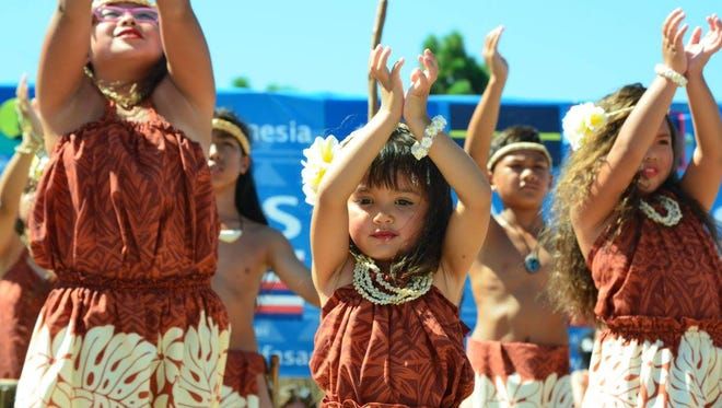 Dancers perform at the  Pacific Islander Festival Association event in San Diego.
