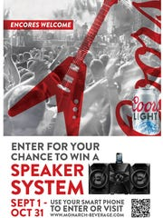 Coors Light is offering this speaker system giveaway.