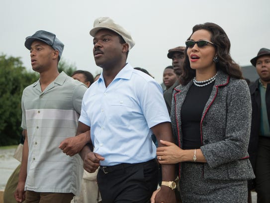 David Oyelowo, center, as Martin Luther King Jr. and