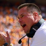 Sep 17, 2016; Knoxville, TN, USA; Tennessee Volunteers head coach Butch Jones during the first quarter against the Ohio Bobcats at Neyland Stadium. Mandatory Credit: Randy Sartin-USA TODAY Sports