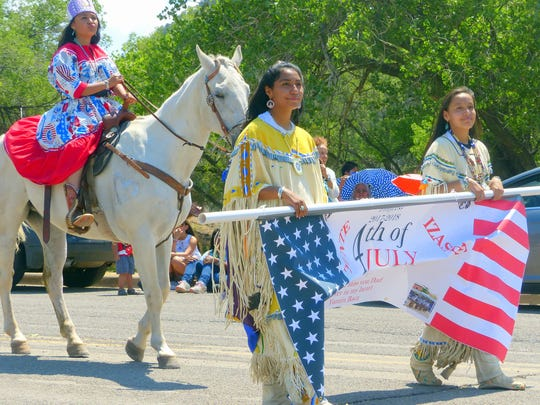 Horses are part of the annual 4th of July parade in