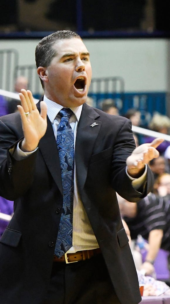 UNC Asheville Head Coach Nick McDevitt.