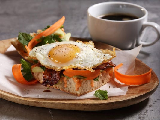 Banh mi breakfast sandwich perks up your morning
