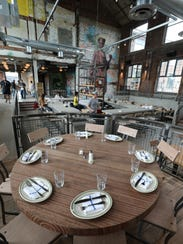 The chef's table at Fortina restaurant at the Boyce
