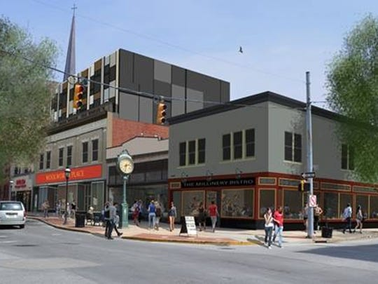 Isaac's plans to open a restaurant in early spring 2017 in the former Weinbrom Jewelers building in downtown York. This rendering shows what the renovated building will look like.