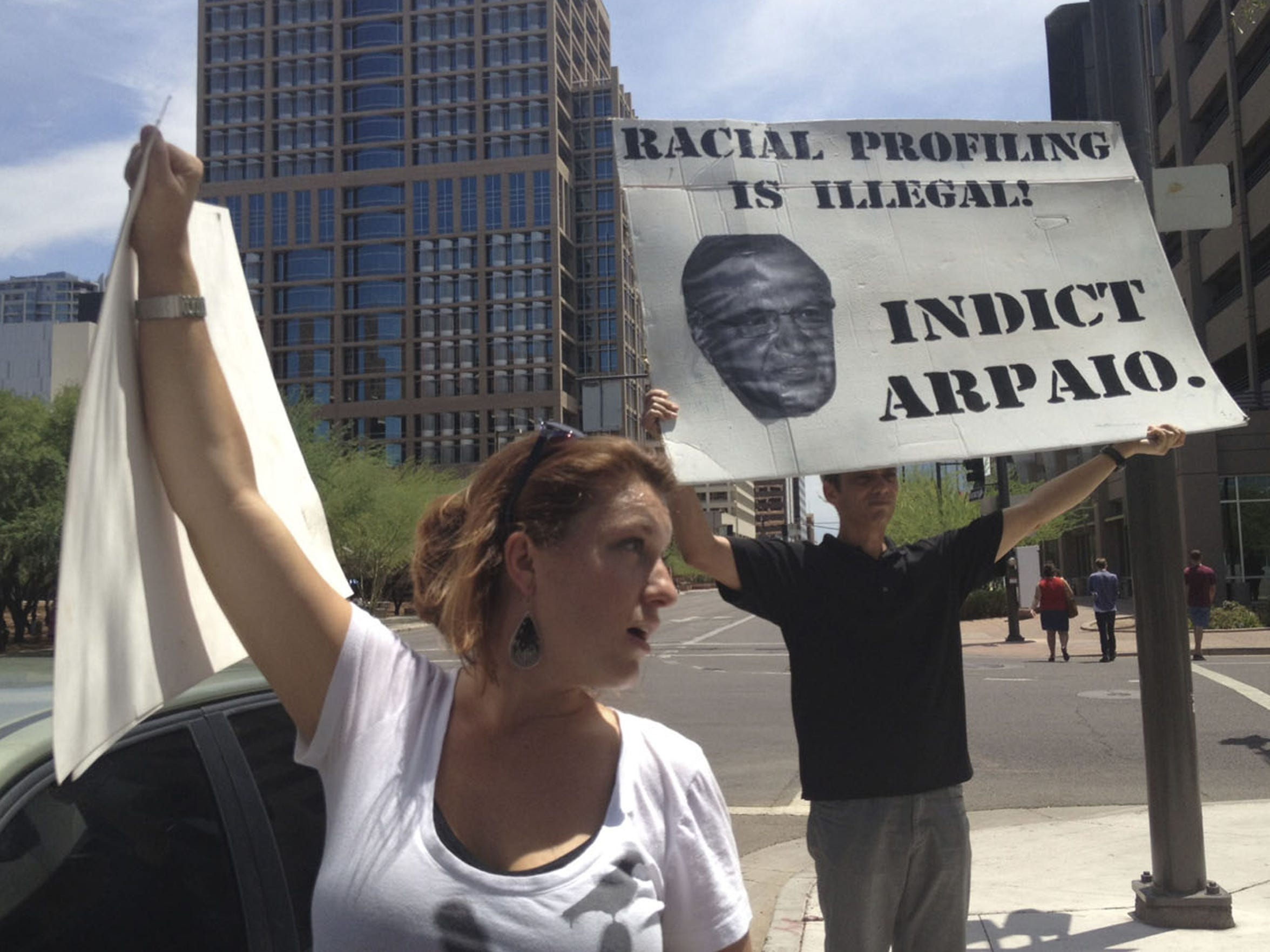 Arpaio's saturation patrols and raids targeting illegal