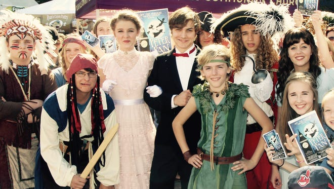 """Cast members of Off the Square Theatre Company's production of """"Peter Pan"""" made a special appearance at downtown Franklin's Pumpkinfest to promote the show."""