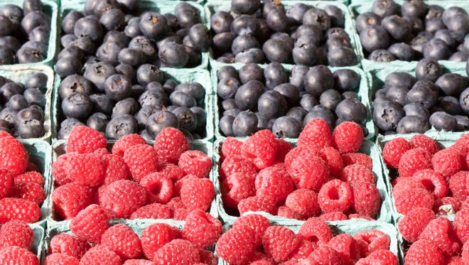 Fresh fruit at Pikes Place Market in Seattle, Wash., on March 10, 2015.