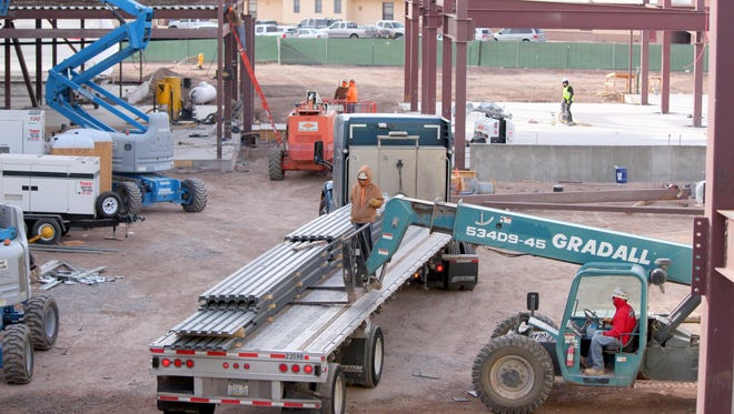 The new Deming High School is scheduled to be completed in time for the start of the new school year in August of 2017.