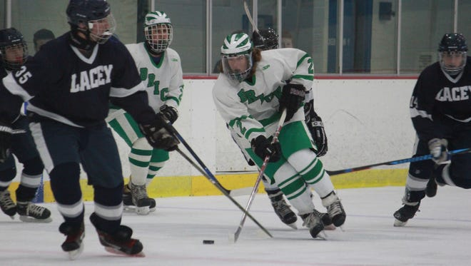 JT Maloney (2) had seven points against Lacey on Monday.