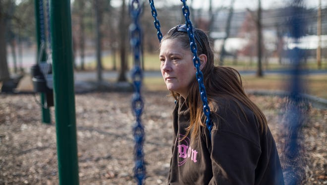 "Teka Russell sits in East Frankfort Park in Frankfort, Ky., on Saturday, Dec. 10, 2016. She has many special memories with her son, D'nomyar ""Denom"" Russell, at the park. The 16-year old was fatally shot on Christmas 2014 by his older brother with a new gun he had received hours earlier; the shooting was ruled to be an accident and no charges were filed. Unintentional shootings spike during the holidays, and are more likely to occur than any other time of the year."